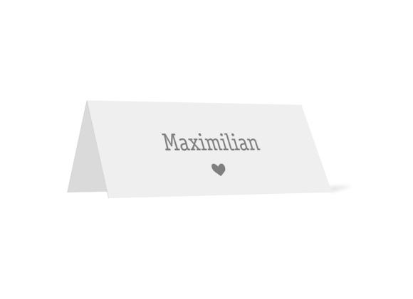 Tischkarten (Namenskärtchen, personalisiert), Motiv: Gent Pure, Rückseite, Farbvariante: grau