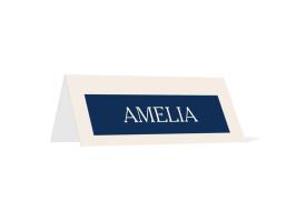 Hochzeitstischkarten Monaco Blau