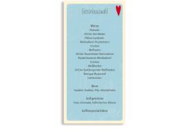 Menükarten Hochzeit Vintage Heart (Postkarte DL)