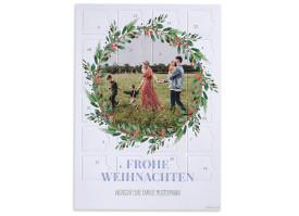 """Adventskalender """"Wintereinzug"""" (DIN A4) beerenblau"""