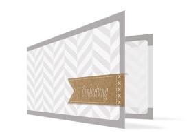 Einladungskarten Geburtstag Pattern (Klappkarte) Beige