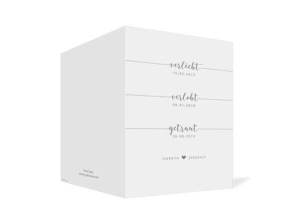 Kirchenheft (Klappkarte A5), Motiv: Gent Pure, Aussenansicht, Farbvariante: grau