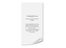 Transparente Einlegeblätter DIN Lang Hoch (bedruckt)