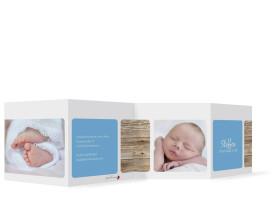 Geburtskarten Steffi/Steffen (Leporello) Blau
