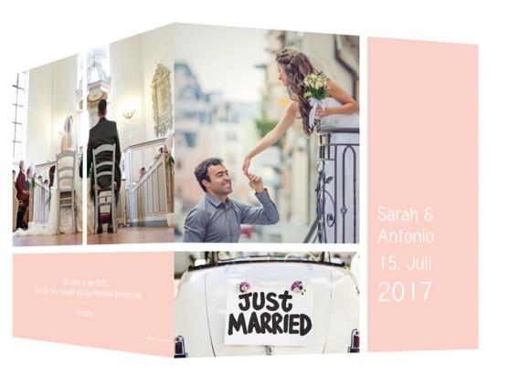 Danksagung zur Hochzeit Boxes, Außenansicht in Apricot