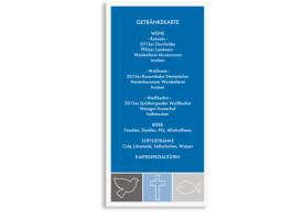 Hochzeitsmenükarten Athen Blau