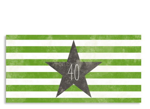 Einladungskarte Vintage Star zum 40. (Postkarte, mit 2 Fotos)