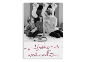 """Weihnachtsgrüße """"Fröhliche Weihnachten"""" (Postkarte A6 hoch) rot"""