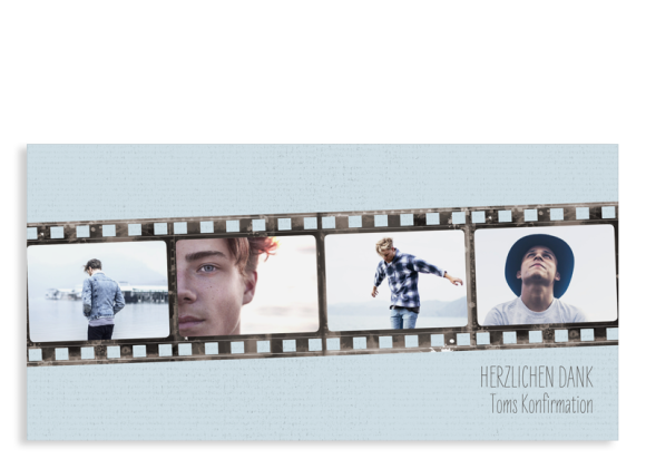 "Danksagung Konfirmation ""Weg"" (Postkarte DL mit Fotos)"