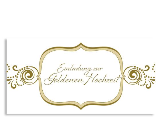 Einladung Goldhochzeit Goldene Zeiten (Postkarte)
