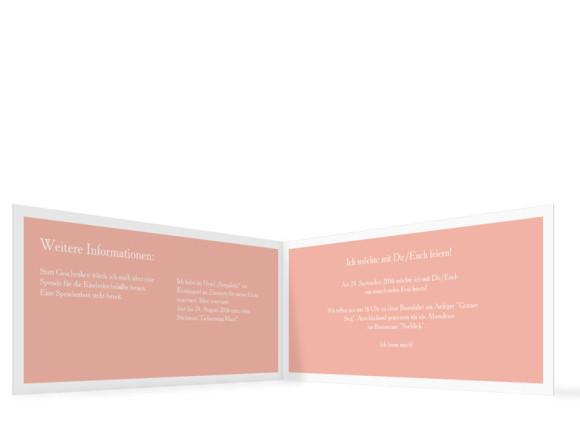 Geburtstagseinladung, Motiv Nizza, Klappkarte  DIN Lang, Rückseite, Farbversion: apricot