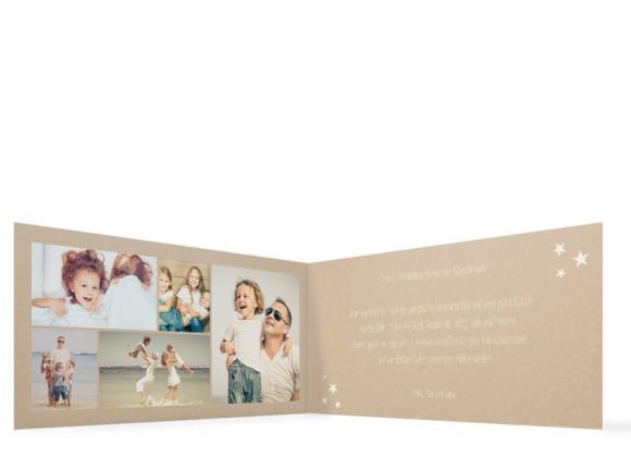 Weihnachtskarte Weihnachtskette (Klappkarte), Innenansicht in der Farbvariante: altweiß