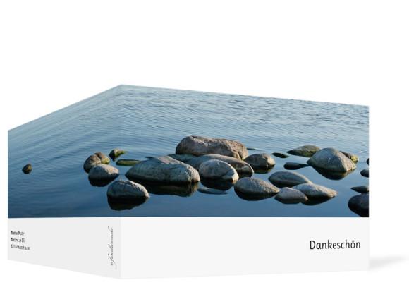 Trauer Danksagungen Steine, Außenansicht der Farbversion: blau/weiß