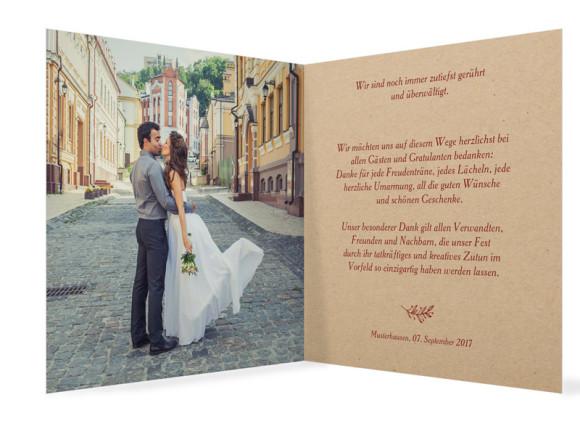 Danksagung zur Hochzeit Nature, Innenansicht in Bordeaux