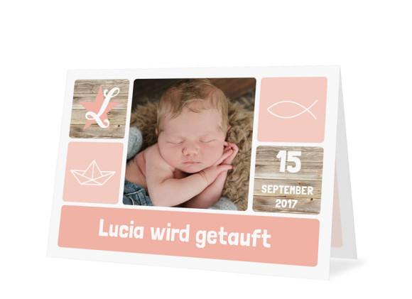 Einladung zur Taufe Lucia/Luca