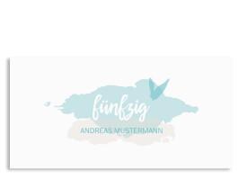 Geburtstagseinladung Farbklecks zum 50. Türkis