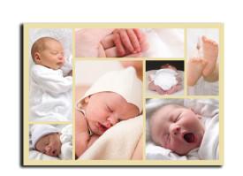 Geburtskarte Olivia/Oliver (Postkarte) Beige