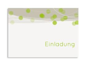 Einladungen zum Geburtstag Lampion (Postkarte ohne Foto) Grün