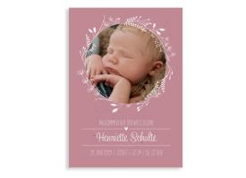 "Danksagung zur Geburt ""Henriette/Henry"" altrosa"