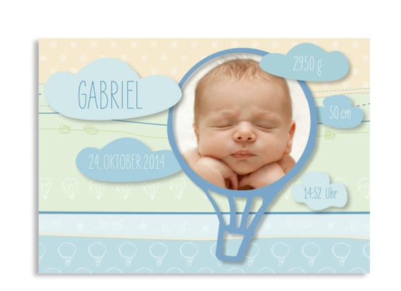 Geburtskarten Gwen/Gabriel (Postkarte)