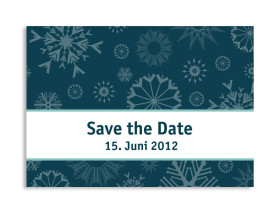 Save-The-Date-Hochzeitskarte Reykjavik (Postkarte A6) Blau