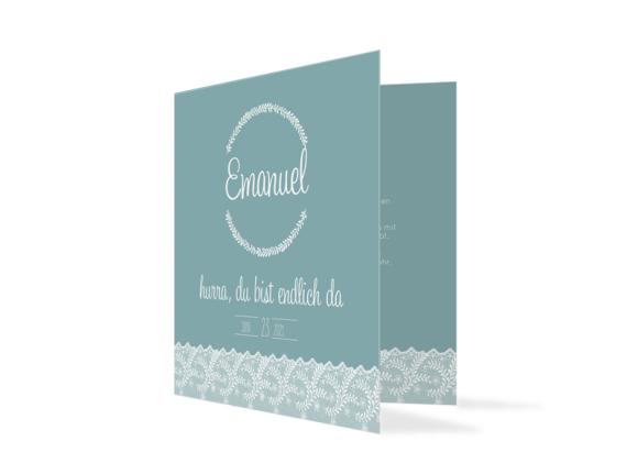 Geburtskarte Elisabeth/Emanuel