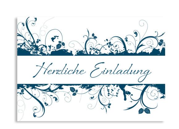 Einladung Flowers (Postkarte)