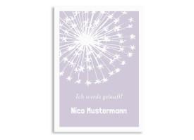 Einladungskarten zur Taufe Nizza/Nico Flieder