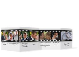 Foto-Leporello zur Hochzeit Hollywood (Gastgeschenk) Weiß