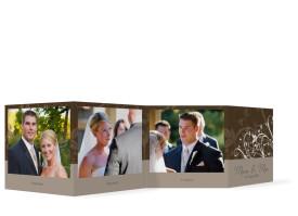 Hochzeit Foto-Leporello Wien (Gastgeschenk) Braun