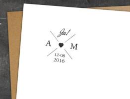 Hochzeitsstempel Cross Heart