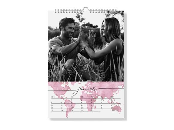 """Wandkalender """"Weltkarte"""" - Spiralbindung"""