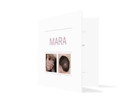 Babykarte als Danksagung Mara/Max Brombeer