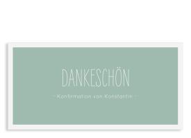 """Danksagung zur Konfirmation """"Licht"""" (Postkarte) gruen"""