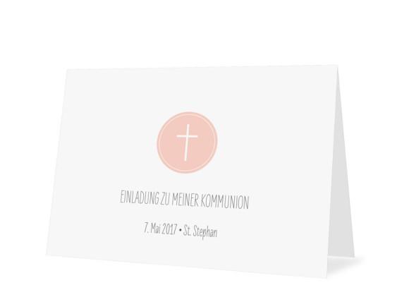 Kommunionseinladung Pure Cross
