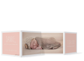 Dankeskarten zur Geburt Tilda/Till Apricot