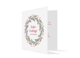 Geschäftliche Weihnachtskarte Festtage (quad. Klappkarte)