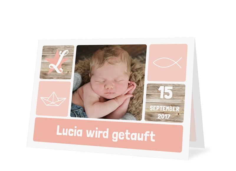 Einladungskarte Zur Taufe Lucialuca