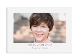 "Konfirmation Danksagung ""Ausblick"" (Postkarte) grau"