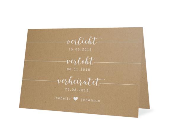"""Einladungskarte zur Hochzeit """"Gent Natural"""""""