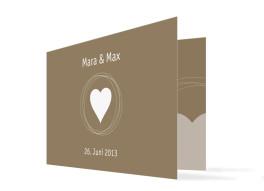 Einladungskarten zur Hochzeit Pur (Klappkarte)