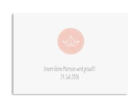 Taufkarte Pure Origami (Postkarte A6) Apricot