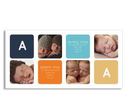 Zwillingskarte Ava/Avery (Postkarte)