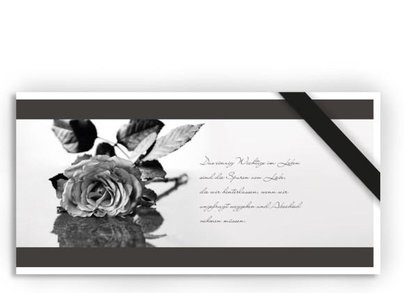 Trauerkarte Rose (Postkarte)