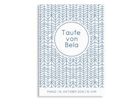 Einladungskarten zur Taufe Bibbi/Bela Dunkelblau