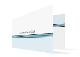 Silberhochzeitskarte Cardiff Blau
