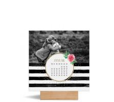"""Foto-Tischkalender """"Rosenkranz""""  150x150 mm beige"""