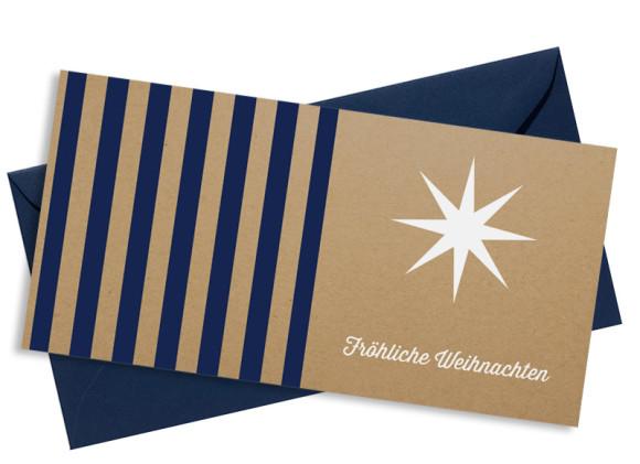 Firmen-Weihnachtskarte Geometrics (Postkarte) in dunkelblau