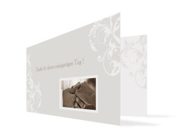 Hochzeits-Danksagungskarte Dubai (Klappkarte)