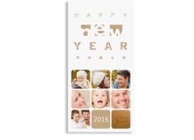 Neujahrskarten Facettenreich (Postkarte) Beige
